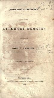Cover of: Biographical sketches | Campbell, John W.