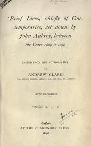 Cover of: 'Brief lives,' chiefly of contemporaries by John Aubrey