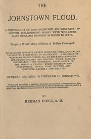 Cover of: The Johnstown flood by Herman Dieck
