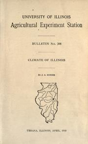 Cover of: Climate of Illinois | J. G. Mosier