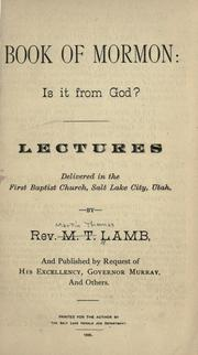 Cover of: Book of Mormon | M. T. Lamb