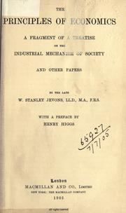 Cover of: The principles of economics | William Stanley Jevons