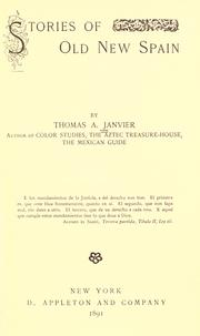 Cover of: Stories of old New Spain by Thomas Allibone Janvier