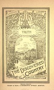 Cover of: The Discovered Country | Carlyle Petersilea