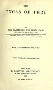 Cover of: The Incas of Peru | Markham, Clements R. Sir