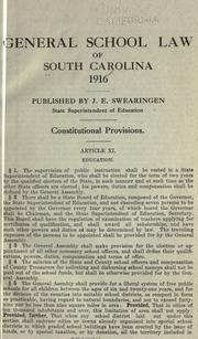 General school law of South Carolina, 1916