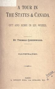 Cover of: A tour in the States and Canada | Greenwood, Thomas
