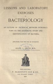 Cover of: Lessons and laboratory exercises in bacteriology by Allen John Smith