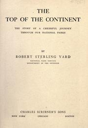 Cover of: The top of the continent | Yard, Robert Sterling