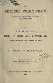 Cover of: A British friendship by Martineau, Harriet