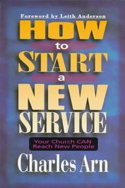 Cover of: How to start a new service | Charles Arn