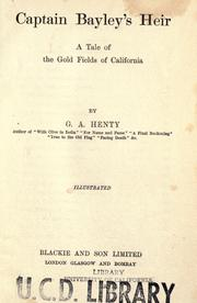 Cover of: Captain Bayley's heir by G. A. Henty