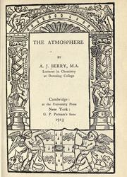 Cover of: The atmosphere | Berry, A. J.