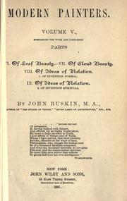 Cover of: [Miscellaneous articles and lectures] by John Ruskin