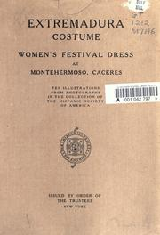 Cover of: Extremadura costume by Hispanic Society of America.