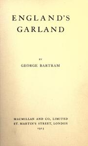 Cover of: England's garland | Bartram, George.