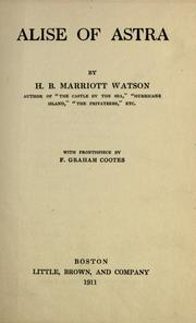 Cover of: Alise of Astra by Watson, H. B. Marriott