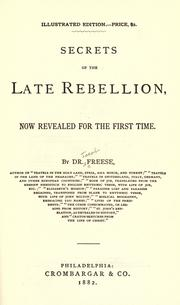 Cover of: Secrets of the late rebellion | Jacob R. Freese