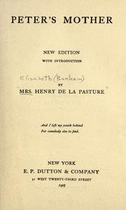 Cover of: Peter's mother | Mrs. Henry de la Pasture