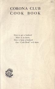 Corona club cook book