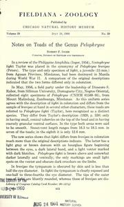 Cover of: Notes on toads of the genus Pelophryne | Robert F. Inger