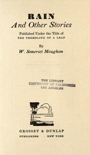 Cover of: Rain | W. Somerset Maugham
