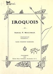 Cover of: Iroquois | Samuel P. Moulthrop