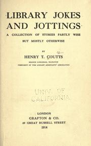 Cover of: Library jokes and jottings | Henry Thomas Coutts