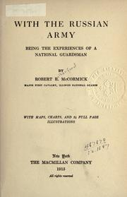 Cover of: With the Russian army by McCormick, Robert Rutherford