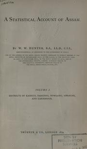 Cover of: A statistical account of Assam | William Wilson Hunter