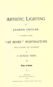 Cover of: Artistic lighting | Inglis, James