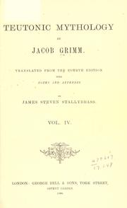 Cover of: Deutsche mythologie by Brothers Grimm, Wilhelm Grimm