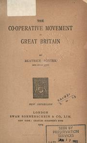Cover of: The co-operative movement in Great Britain | Beatrice Potter Webb