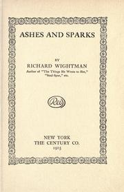 Cover of: Ashes and sparks | Richard Wightman