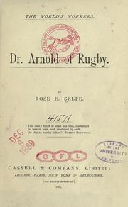 Cover of: Dr. Arnold of Rugby | Rose E. Selfe