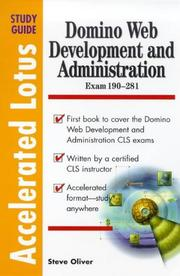 Cover of: Domino Web Development and Administration | Steve Oliver