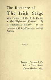 Cover of: The romance of the Irish stage | Molloy, J. Fitzgerald