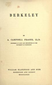 Cover of: Berkeley | Alexander Campbell Fraser