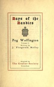 Cover of: Peg Woffington | Molloy, J. Fitzgerald