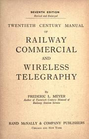 Cover of: Twentieth century manual of railway | Frederic Louis Meyer