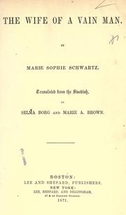Cover of: The wife of a vain man | Marie Sophie Schwartz