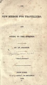 Cover of: The new mirror for travellers and guide to the springs | Paulding, James Kirke