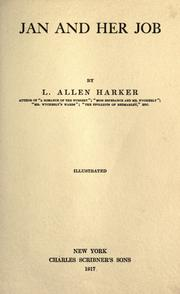 Cover of: Jan and her job by L. Allen Harker