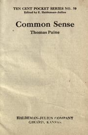 Cover of: Common Sense | Thomas Paine