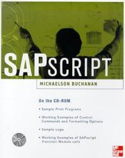 Cover of: SAPscript | Michaelson Buchanan