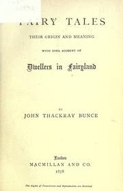 Cover of: Fairy Tales | John Thackray Bunce