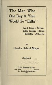 "Cover of: The man who one day a year would go ""eelin',"" 