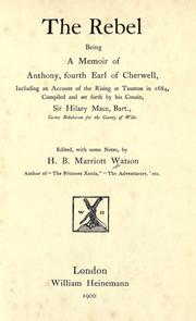 Cover of: The rebel by Watson, H. B. Marriott