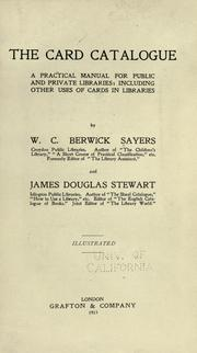 Cover of: The card catalogue | W. C. Berwick Sayers