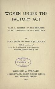 Cover of: Women under the factory act | Nora Vynne